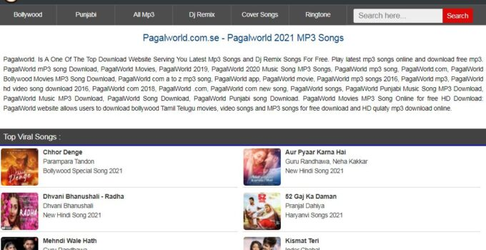 Pagalworld is India's top Hindi and regional music download site